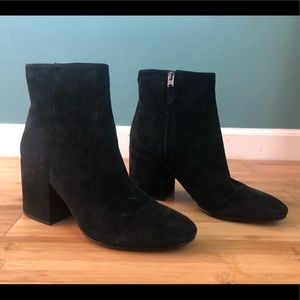 Sam Edelman Tate Black Suede Ankle Boot Bootie